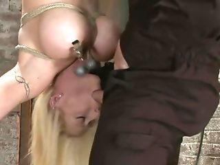 BDSM, Bound, Candy Manson, Clamp, Clit, Cum, Huge Tits, Karma Rosenberg, Pussy,