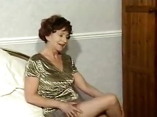 Amateur, Granny, Masturbation, Solo, Stockings, Striptease,