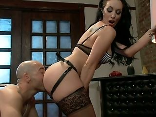 American, Ass Licking, BDSM, Domination, Dungeon, Felching, Fetish, January Seraph, Licking, MILF,