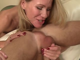 Blonde, Couple, Cowgirl, Cumshot, Facial, Fake Tits, Fingering, Handjob, Hardcore, Licking,