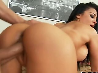 Audrey Bitoni, Bedroom, Big Cock, Big Tits, Boyfriend, Brunette, Cum Swallowing, Hardcore, HD, Son,