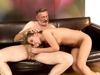 Blonde, Blowjob, Felching, Grandpa, Old And Young, Oral Sex, Rough, Teen,