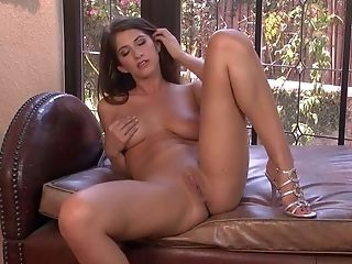 Big Tits, Brunette, Fingering, HD, Jerking, Karina White, Long Legs, Masturbation, Natural Tits, Pornstar,
