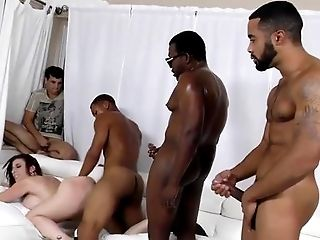 Behind The Scenes, Big Ass, Big Cock, Big Tits, Black, Blowjob, Bold, Brunette, Caucasian, Cumshot,