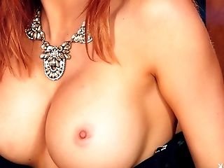 Big Tits, Erotic, Fake Tits, Ginger, Model, Redhead, Shaved Pussy, Solo,