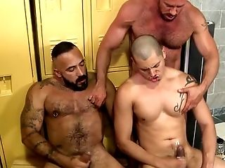 Bear, Cum, Group Sex, HD, Muscular,