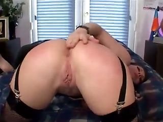 Anal Sex, Beauty, Brunette, Cute, Fmm, Hardcore, Renee Pornero, Slut, Stockings,
