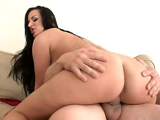 Ass, Big Natural Tits, Big Tits, Blowjob, Bold, Boots, Brunette, Carmen Croft, Cowgirl, Cum On Tits,