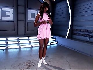 Ana Foxxx, Black, Cute, Dress, Horny, Jerking, Legs, Masturbation, Pussy, Sex Toys,