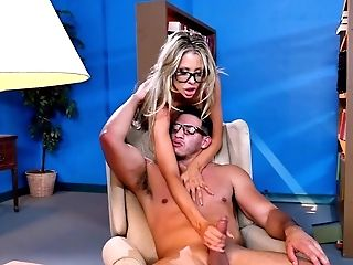 Big Tits, Blonde, Blowjob, Courtney Taylor, Cumshot, Facial, Fake Tits, Glasses, Hardcore, HD,