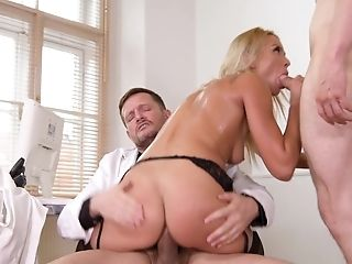 Anal Sex, Blonde, Blowjob, Boobless, Cowgirl, Cum In Mouth, Cumshot, Double Anal, Double Penetration, Hardcore,