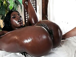 Ana Foxxx, Ass, Big Ass, Black, Boots, Booty Shaking, Brunette, Fake Tits, Food, HD,