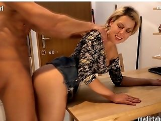 Amateur, Anal Sex, Blonde, Blowjob, Dirty, Double Penetration, German, Threesome,