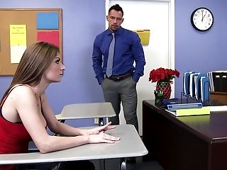 American, Casting, Classroom, College, Condom, Desk, From Behind, Natural Tits, Naughty, Teacher,