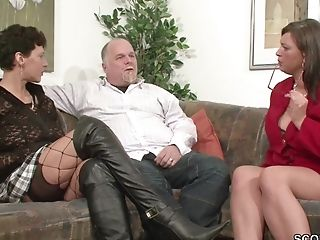 69, Big Natural Tits, Couple, German, Hardcore, HD, MILF, Threesome,