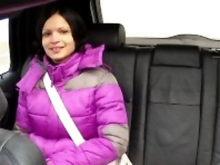 Amateur, Backseat, Black, Blowjob, Brunette, Car, Cum, Cum On Tits, Cumshot, HD,