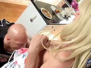 Bareback, Blonde, Boy, Creampie, HD, Lingerie, Mature, Shemale Fucks Guy, Tranny,