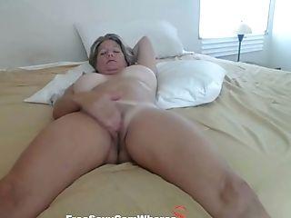 Big Tits, Curly, Jerking, Mature, MILF, Tan Lines, Webcam, Wife,