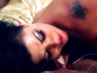 Adrianna Nicole, Bra, Clamp, Cute, Dildo, Fingering, Friend, Lesbian, Natural Tits, Piercing,