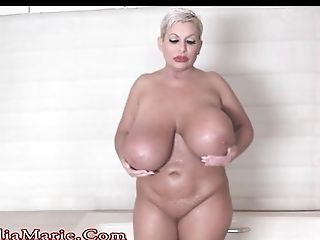 Bathroom, Big Ass, Big Cock, Big Tits, Black, Blonde, Blowjob, Bold, Caucasian, Claudia Marie,