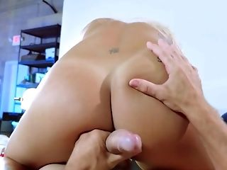 Ass Fucking, Blonde, Blowjob, Cougar, Desk, Fingering, Footjob, HD, Office, Pornstar,