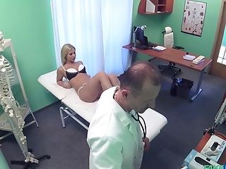 Babe, Blonde, Blowjob, Dentist, Doctor, Fingering, Hidden Cam, Horny, Hospital, Moaning,