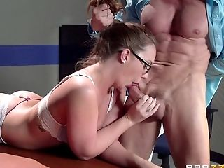 Ass, Babe, Bra, Couple, Cowgirl, Cum In Mouth, Cumshot, Face Fucking, Glasses, Hardcore,