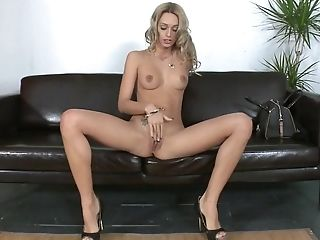 Big Tits, Blonde, Casting, Dildo, Erica Fontes, Felching, HD, Jerking, Reality, Sex Toys,