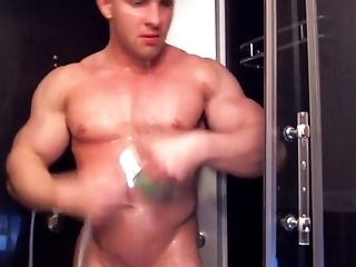 Bodybuilder, Bold, HD, Shower, Solo,