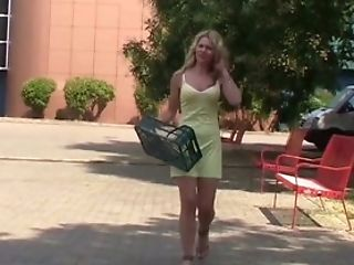 Blonde, Bold, From Behind, Fucking, Outdoor, Pick Up, POV, Public, Riding, White,