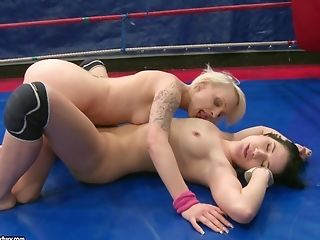 Babe, Blonde, Femdom, Fighting, Lesbian, Lucy Bell, Natural Tits, Nude, Oral Sex, Paige Fox,