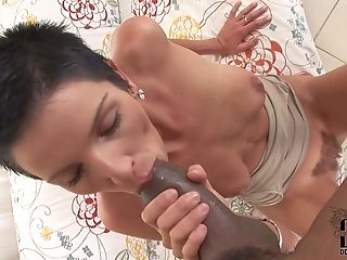 Black, Blowjob, Brunette, Doggystyle, Fucking, Gangbang, Hardcore, HD, Interracial, Natural Tits,
