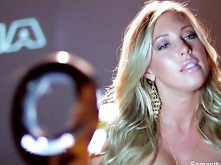 Babe, Big Tits, Blonde, HD, Masturbation, Pornstar, Samantha Saint, Sex Toys, Sexy, Solo,
