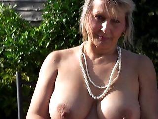 Amateur, Amazing, Big Natural Tits, British, Granny, Mature, Outdoor,