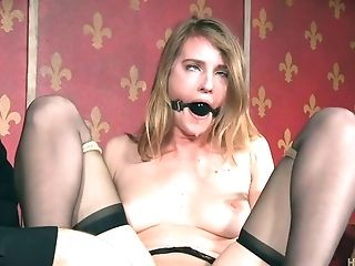 Ashley Lane, Balls, BDSM, Bold, Bondage, Boobless, Brunette, Cum In Mouth, Dildo, Gagging,