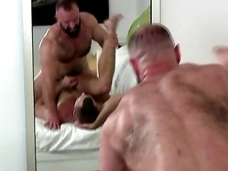 Anal Sex, Behind The Scenes, Couple, Hairy, HD, Hotel, Muscular,