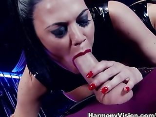 Big Tits, Brunette, Cumshot, Facial, Fetish, Interracial, Latex, Pornstar, Stockings, Threesome,